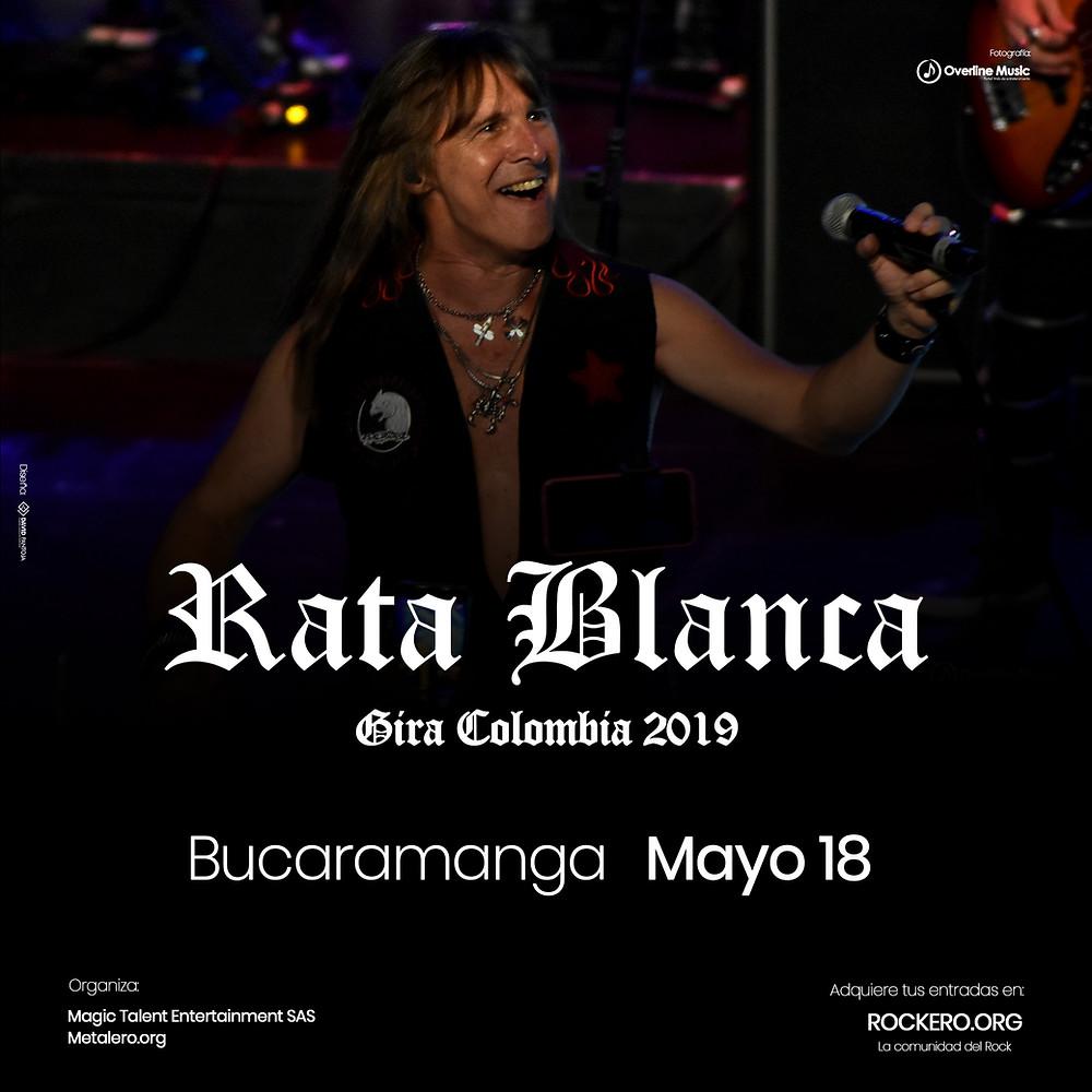 Rata Blanca en Bucaramanga, Colombia 2019
