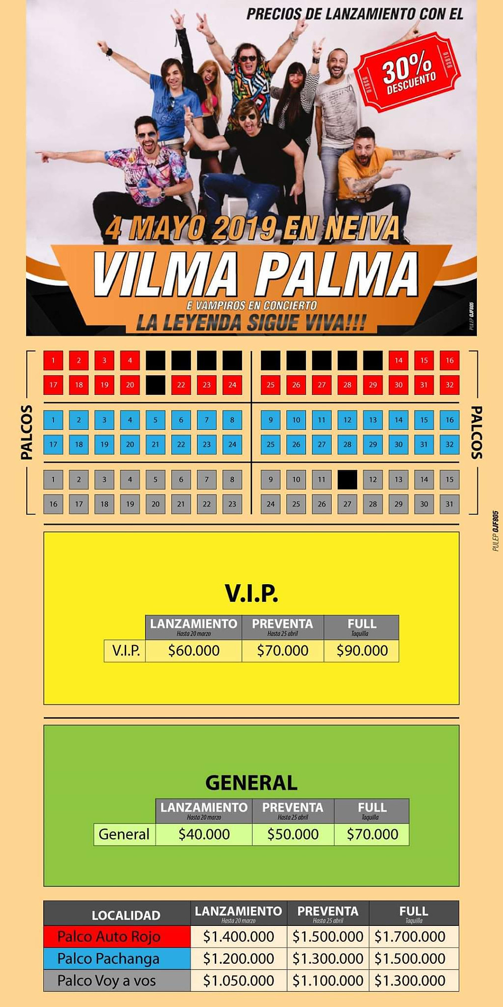 Vilma Palma en Neiva, Colombia 2019