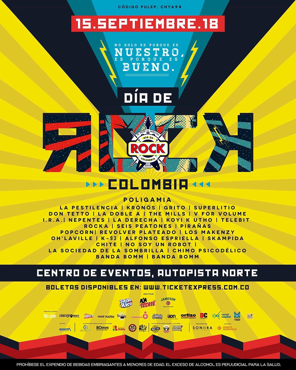 Día de Rock Colombia 2018