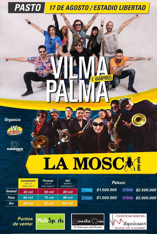 Vilma Palma en Pasto Colombia 2018