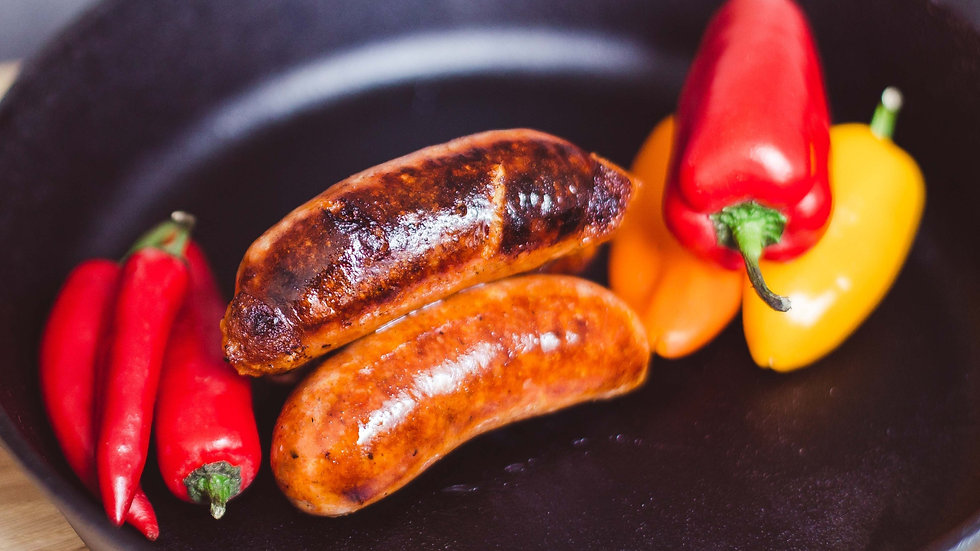 Pork & sweet chilli sausages