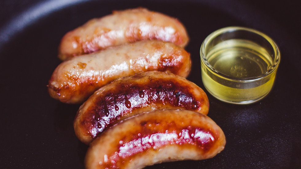 Pork & honey sausages