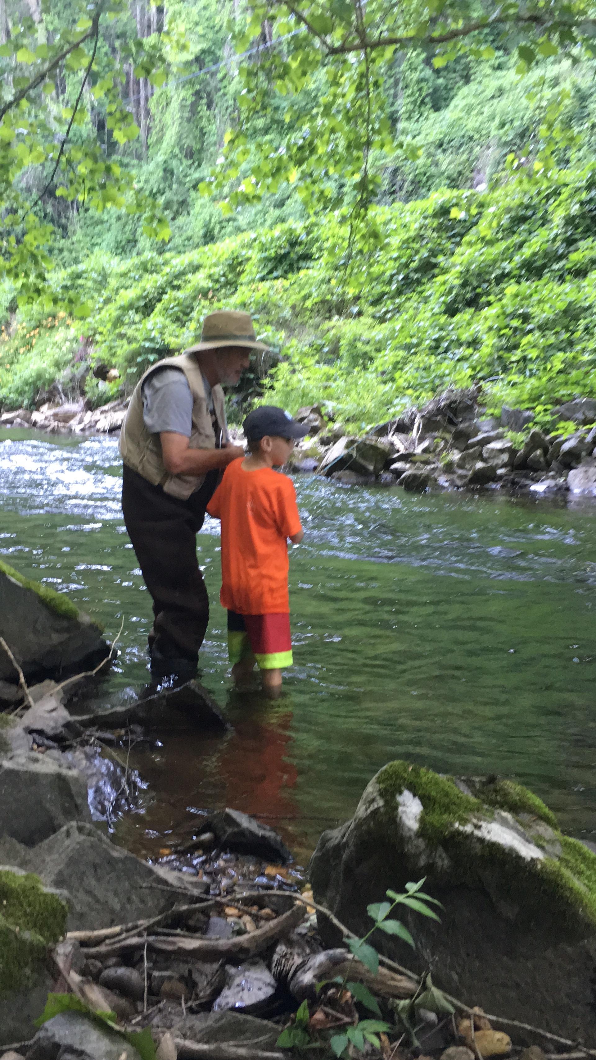 Fishing Snowbird Creek