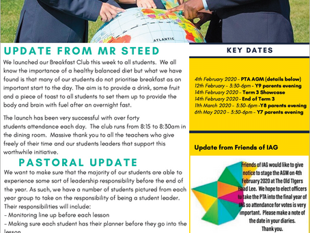 IAG Weekly Newsletter - 24th January 2020