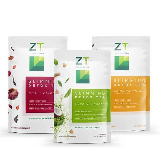 ZT Slimming Tea Bundle - (Goji, Garcinia+ Matcha Coconut)