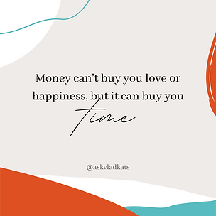 money can't buy you love or happiness, b