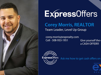 Corey Morris of Thrive Real Estate Network & Level Up Group certified in eXp's Express Offers
