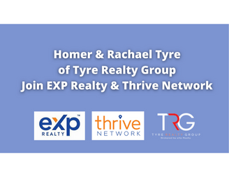 Homer and Rachael Tyre of Tyre Realty join eXp Realty & Thrive Real Estate Network