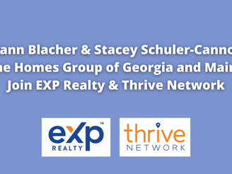 Roseann Blacher, Stacey Schuler-Cannon & The Homes Group of GA & ME Join EXP Realty & Thrive Network