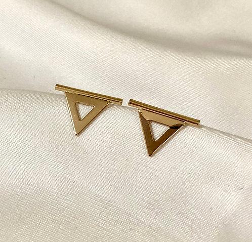 Brinco triângulo invertido - Dourado
