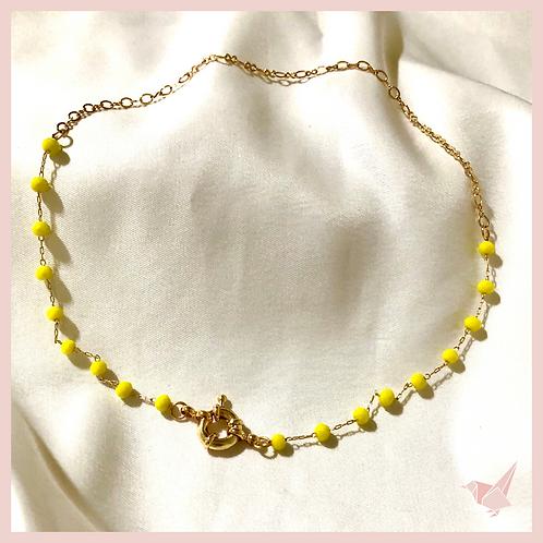 Choker Cristal - Amarelo