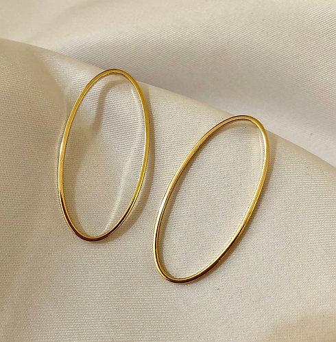 Brinco Oval - Dourado