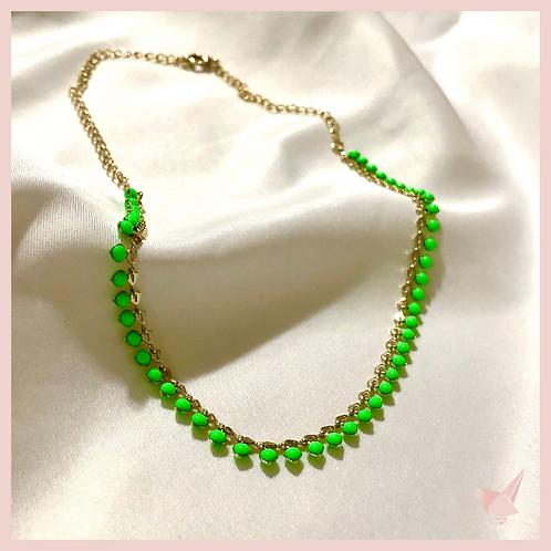 Choker Esmaltada - Neon Verde