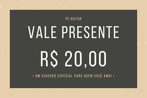 Voucher R$ 20,00