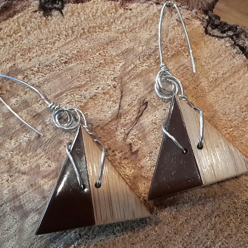 triangle wooden earings.