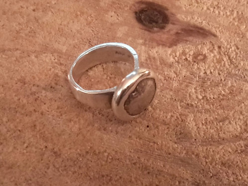 Fine silver coin ring