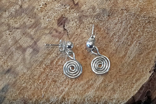 stirling silver small drop earings
