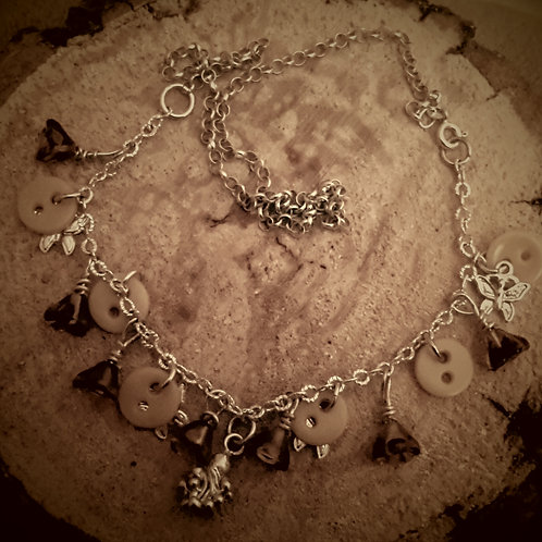 button bead and charm necklace