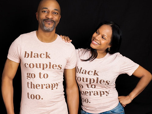 Black Couples Therapy Tee (Pink)