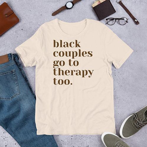 Cream Black Couples Therapy Tee