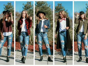 One Piece 5 Ways: Distressed Boyfriend Jeans
