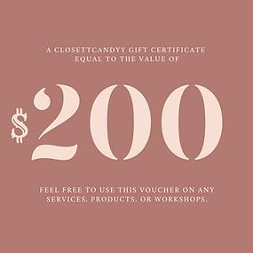 $200 closettcandyy gift certificate - fr