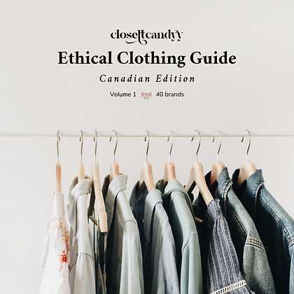 Ethical Clothing Guide: Canadian Edition, Volume 1
