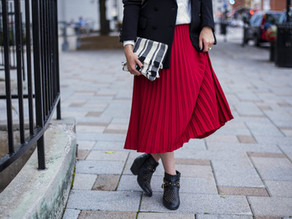 Outfit Idea: Menswear Blazers & Pleated Skirts