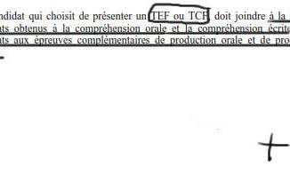 Les épreuves obligatoire du Test de connaissance de français