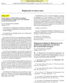 Nouveau règlement concernant  la pondération des critéres de sélection des ressortissants étrangers