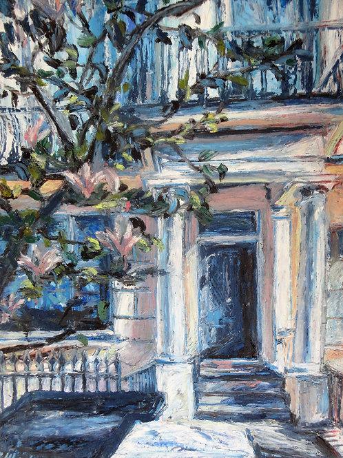 Chelsea Doorway With Magnolias