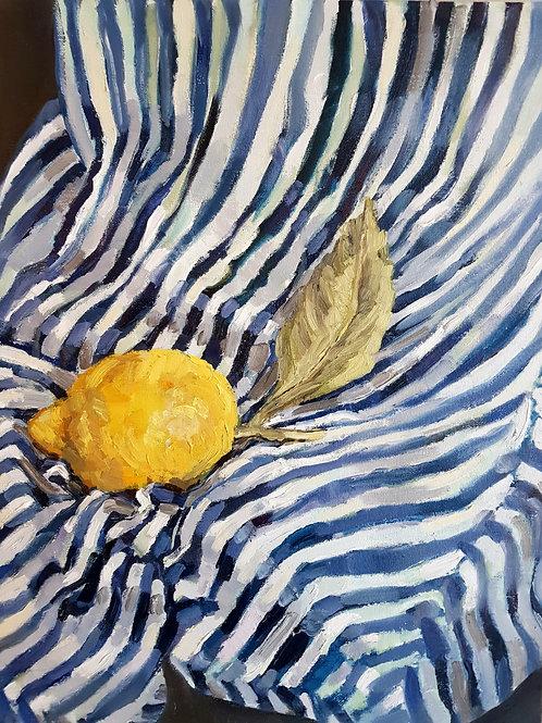 Sorrento Lemon On Stripes