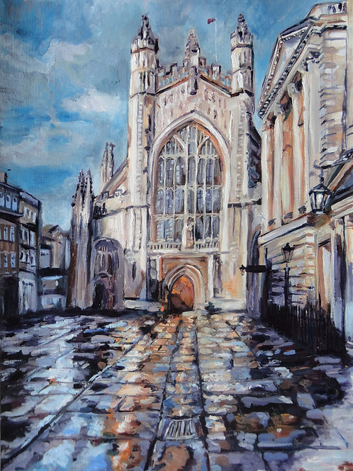Rainy Bath Cathedral