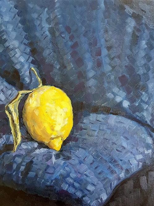 Sorrento Lemon On Dark Couch Cushion