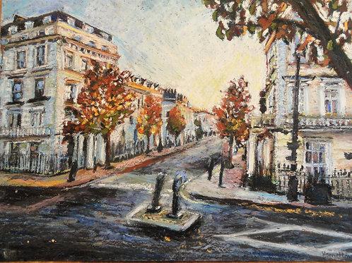 Corner of Charlwood Street and Belgrave Road, Pimlico, Autumn