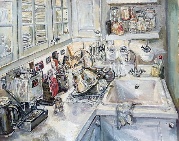 Harriet Lawless Oil Painting Kitchen I'v