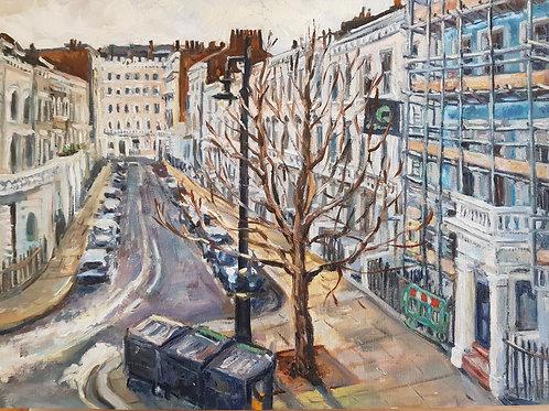 Denbigh Place, Pimlico, Winter 2021