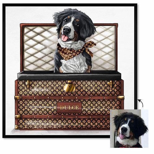 Potcake/Pet Luxury Traveler (Brown)