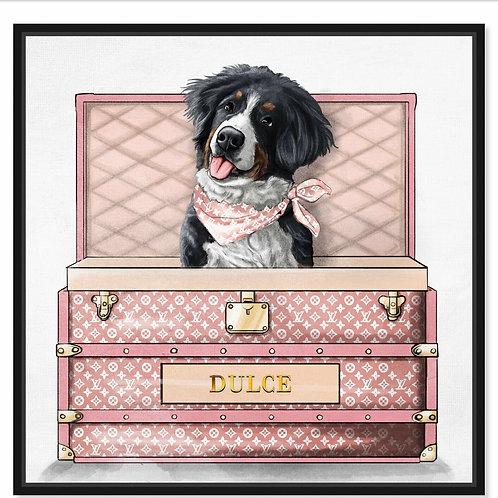Potcake /Pet Luxury Traveler (Pink)