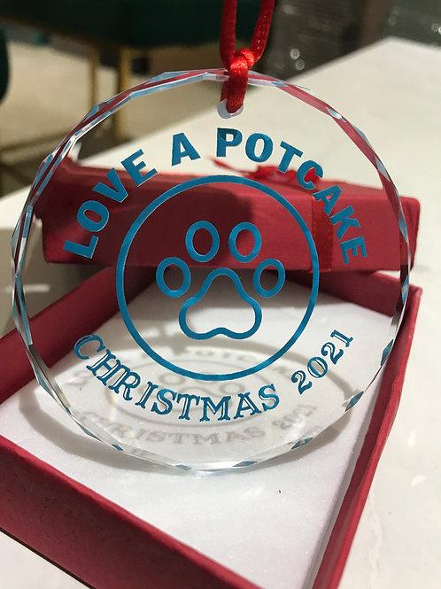 2021 Annual Potcake Crystal Christmas Ornament