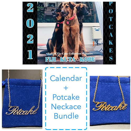 Potcake Calendar + Necklace Bundle
