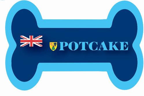 TCI/Potcake Dog Bone Magnet