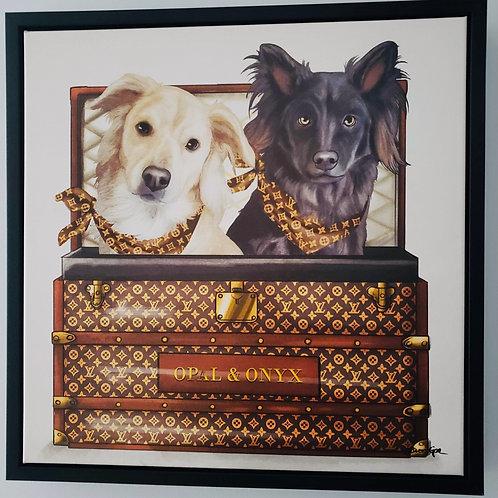 Potcake/ Pet Duo Luxury Travelers