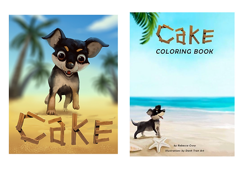 Autographed Cake Story + FREE Coloring Book Bundle