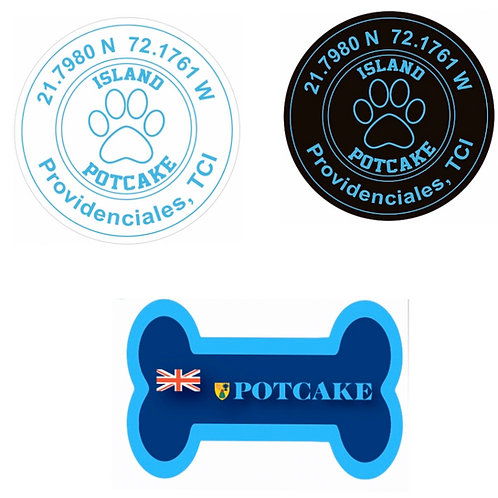 3 Potcake Sticker Bundle