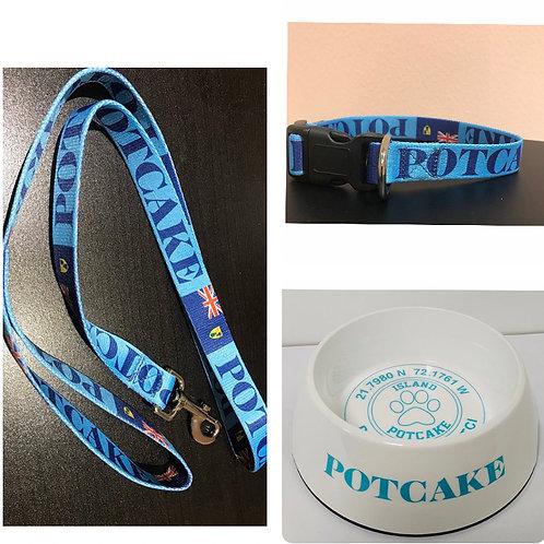 TCI Potcake Christmas Bundle (Collar, Leash and Dog Bowl)