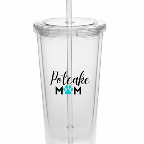"""Potcake Mom"" 20 oz.  Acrylic  Tumbler"