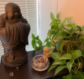 A Calmness Within Buddha and Pothos