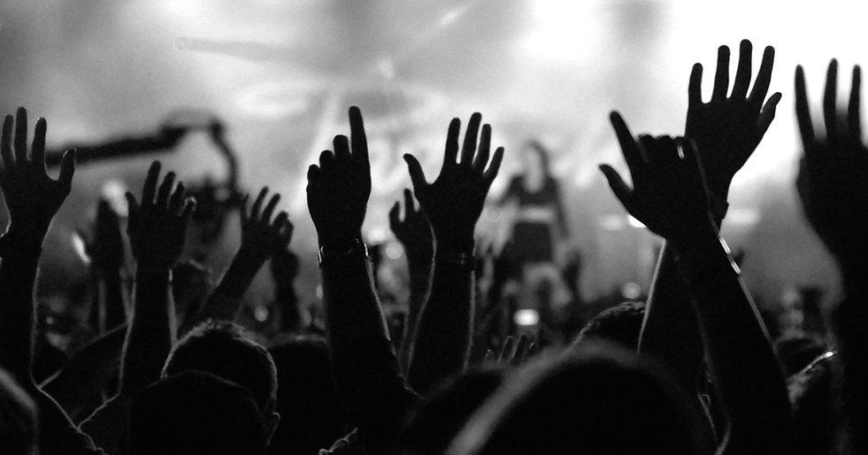 hand-raising-in-church-black-and-white.j