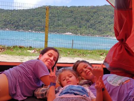 Acampamento e trilha em Bombinhas